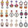 Fashion Women Lady Crystal Pearl Earrings Ear Stud Dangle Drop Statement Jewelry