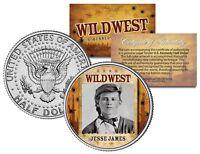 JESSE JAMES * Wild West Series * JFK Kennedy Half Dollar U.S. Coin