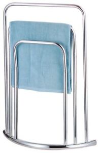 Three Tier Towel Holder Free Standing Chrome Bathroom 3 Rail Rack Stand New
