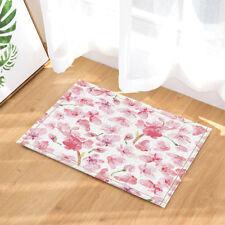 Door Mat Bathroom Rug Bedtoom Carpet Bath Mats Rug Non-Slip Pink cherry
