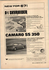 1967 PAPER AD American Machine & Foundry Camero SS 350 Model A-1 Skyraider
