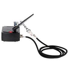 Dual Action Airbrush Spray Gun Air Compressor Kit Art Tattoo Manicure Model Nail