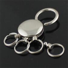 Belt On Waist Clip Holder 4 Ring Keyring Key Chain Detachable Keychain