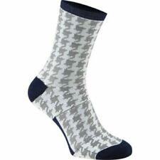 Madison Roadrace Apex Long cycling Sock, Houndstooth White/Ink blue, Large 43-45