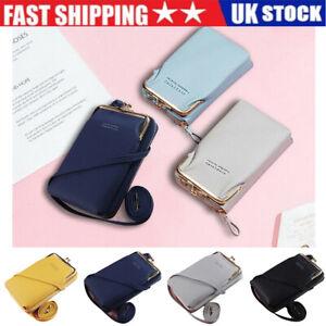 Women Mobile Phone Bag PU Leather Crossbody Mini Purse Wallet Shoulder Pouch QN