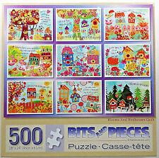 jigsaw studio puzzle 500 pc Blooms & Birdhouses Quilt Denise Urban Bits & Pieces