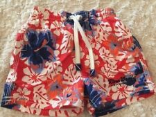 River Woods Boys Red White Blue Hibiscus Flowers Swim Shorts Trunks 6 Months