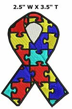 Autism Awareness Support Puzzle Ribbon - Car Truck Window Bumper Sticker Decal