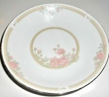 5 Soup Bowls & 5 Luncheon Plates Dishes Serving Pink Roses China LUNCHEON  SET