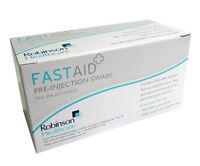 100x FASTAID pre injection alcohol wipes swabs sachets Tattoo piercing