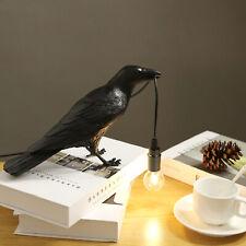 Raven Table Lamp Wall Sconce Light Novelty Bird Resin...