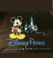 Disney Parks Mickey Mouse with Castle / Black Umbrella