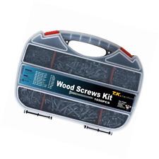 Wood Screw Set, Phillips Flat Head Screws Assortment Kit, Repairs, Fix, 1050pc