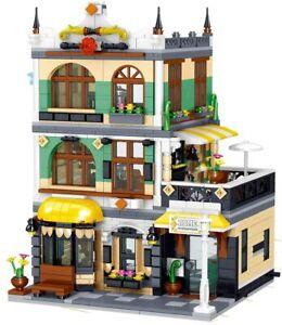 Bausteine Haus italienisches Restaurant mit Dachwohnung, Modular Building,...