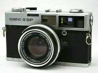 Olympus 35 SP Rangefinder Film Camera w/G.Zuiko 1:1.7 Lens *Problem* #CQ53a