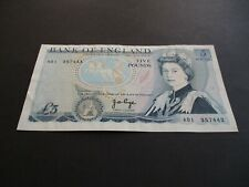 More details for b332 - a01 first run bank of england £5 pound note - j.b.page - a01 357443