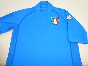 ITALY ITALIA KAPPA WORLD CUP 2002 FOOTBALL SOCCER SHIRT JERSEY TOP MEDIUM