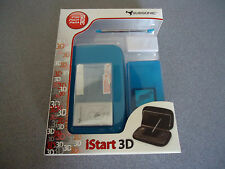 Subsonic iStart 3D Starter Bundle for Nintendo 3DS  Blue/Lt Teal NIB  NEW Stylus
