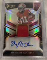 🔥🔥Marquise Goodwin 2018 Panini Select Patch Auto Prizm /75🔥🔥