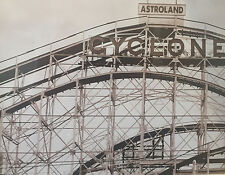 1920 CONEY ISLAND ROLLER COASTER CYCLONE RIDE AMUSEMENT PARK OLD TIME B/W