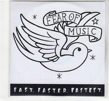 (EC645) Fear of Music, Fast Faster Fastest - DJ CD