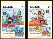 Belize 786-794 Walt Disney characters Christmas 1985 Post cards x14372