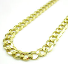 "22"" 4.5mm 10gr 10k Yellow Gold Miami Cuban Curb Link Chain Necklace Ladies Mens"