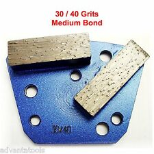 Trapezoid HTC Style Grinding Shoe / Disc / Plate - Medium Bond - 30/40 Grit