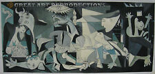 """Guernica"", Picasso Reproduction, hand painted in oil, 48""x22"""