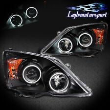 [CCFL Halo] 2007 2008 2009 2010 2011 Honda CR-V Black LED Projector Headlights