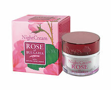 ROSE OF BULGARIA NATURAL NIGHT FACE CREAM 50 ML WITH BULGARIAN ROSE WATER