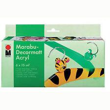 MARABU 6 x 15 ML Decormatt Starter Set-MATT Acrilico Pittura Set