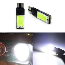 2 Xenon White T10 W5W 194 168 LED COB No Error Canbus Side Wedge Light Lamp DRL