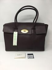 MULBERRY Oxblood Bayswater Grained Leather Tote