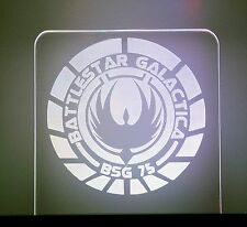 Battlestar Galactica LED Lighted Acrylic Sign