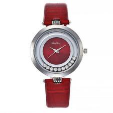 McyKcy Fashion Women Watch PU Strap Round Dial Analog Display Quartz Wrist Watch