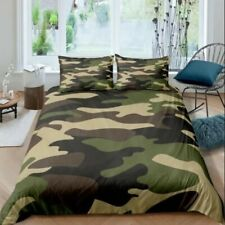 3D Camouflage Pattern Duvet Cover Queen Bedding Quilt Cover Pillowcase