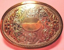 ORNATE ~WAGE~ Reversible Hand Made Engraved Western Style Cowboy Belt Buckle