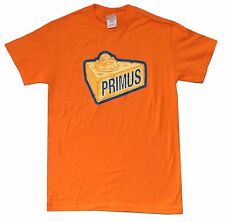 PRIMUS CHEESE HEAD SINGLE IMAGE ORANGE T-SHIRT SMALL NEW OFFICIAL LES CLAYPOOL