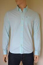 NEW Abercrombie & Fitch Sawteeth Mountain Green Classic Button Down Shirt XL