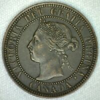 1901 Victoria Large Cent Copper Canada One Cent Extra Fine KJ10