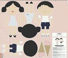 Rosie et Rowan-Riley Blake-Poupée de tissu coton imprimé Quilting Panel