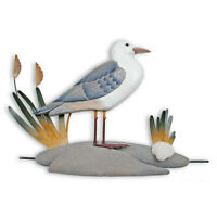 WALL SCULPTURES - SEA GULL BY THE SHORE WALL SCULPTURE - NAUTICAL DECOR