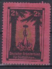 Reklamevignette Deutscher Arbeiterbund für Südböhmen