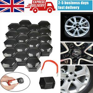20Pcs 17mm Gloss Black Car Alloy Wheel Nut Caps Bolts Rim Covers FOR BMW UK