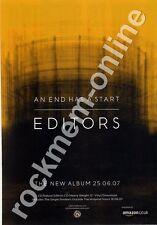 Editors An End Has A Start LP Advert