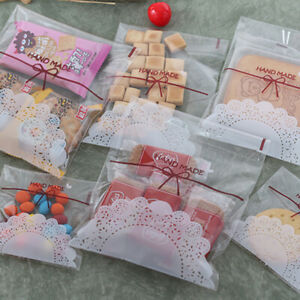 Plastic Self Adhesive Cookie Packaging Bag Wedding Candy Gift Decoration Bag US5