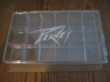 Vintage Peavey White Logo 18 Compartments Guitar Pick Box Store Display Case NOS