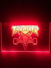 Skateboarding Gaming Red Led Lighted Sign Game Room , Bar , garage Sign