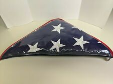 Huge 10 X 5 Interment American Flag 4th of July Includes Zip Carry Case NEW! USA